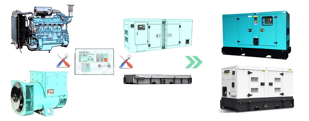 8kw to 150kw silent generator